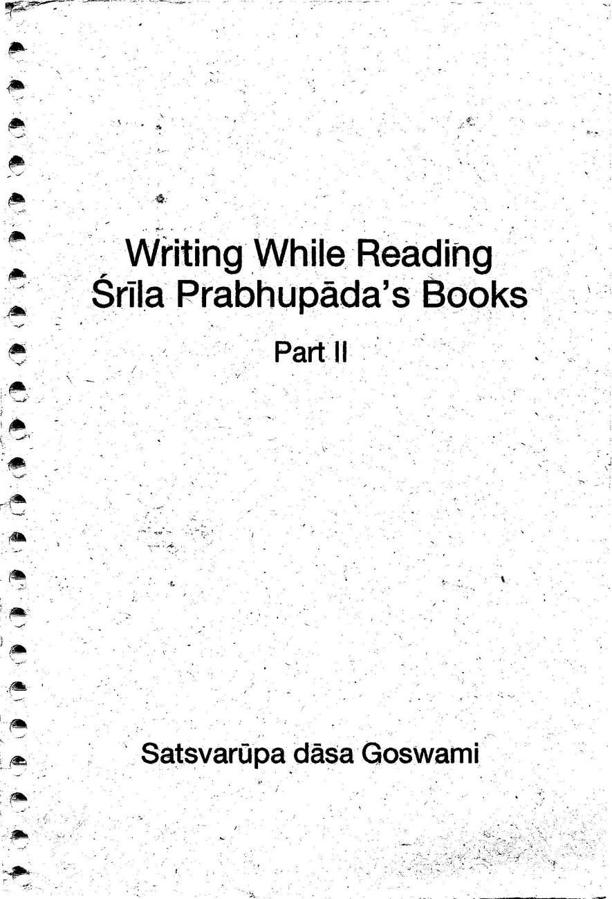 Writing While Reading Srila Prabhupada's Books - Part II _001